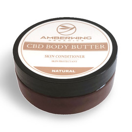 Amberwing Organics 600MG Full Spectrum CBD Body Butter Skin Conditioner 4oz