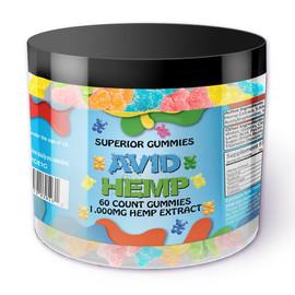 Avid Hemp 1000MG CBD Gummies 60 Count