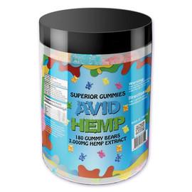 Avid Hemp 3000MG CBD Gummies 180 Count