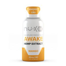 Solace Nu-X 30mg Awake Full Spectrum CBD Shot With Caffeine 60ML - Mango