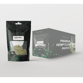 Native Ultra Premium Hemp Flower 3.5 Gram Pouch - Display of 10 - Suver Haze