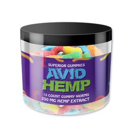 Avid Hemp 250MG CBD Hemp Extract Gummies 15 Count - Worms