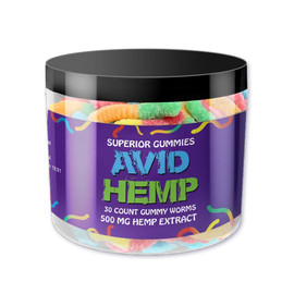 Avid Hemp 500MG CBD Hemp Extract Gummies 30 Count