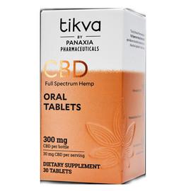 Tikva 300MG Full Spectrum CBD Hemp Oral Tablets 30 Count