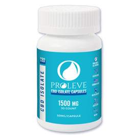 Proleve 1500MG CBD Isolate Capsules 30 Count