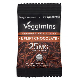 Veggimins 25MG Broad Spectrum CBD Chocolate Bar With Terpenes - Uplift Chocolate