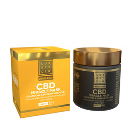 Lux Beauty Club 250MG Broad Spectrum CBD Miracle Mask 4oz - Charcoal & Hyaluronic Acid