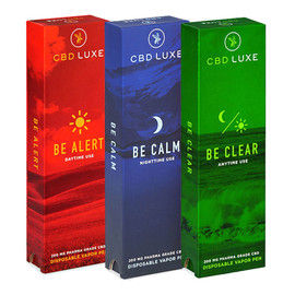 CBD Luxe 2400MG Isolate CBD Disposable Vape Pen 1ML - Assorted Pack Of 12