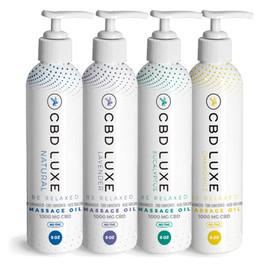 CBD Luxe 12000MG Broad Spectrum CBD Massage Oil 8oz THC Free - Assorted Pack of 12