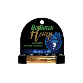 GoGreen Hemp 200MG CBD Hemp Extract Vape Cartridge 1ML - Blueberry OG