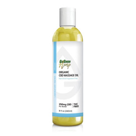 GoGreen Hemp 250MG Organic Broad Spectrum CBD Massage Oil 240ML THC Free - Nut Oil & Fragrance Free