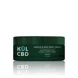 KUL CBD 400mg Full Spectrum CBD Muscle & Joint Body Cream 4oz