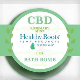 Healthy Roots Hemp 50MG Full Spectrum CBD Bath Bomb 7oz - Rosemary Mint