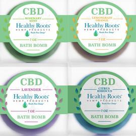 Healthy Roots Hemp 50MG Full Spectrum CBD Bath Bomb 7oz - Citrus Hibiscus, Lavender, Lemongrass Orange, Rosemary Mint