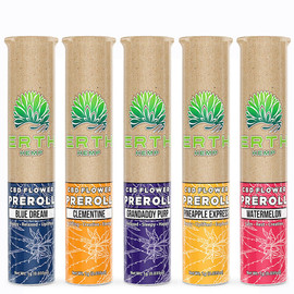 Erth Hemp CBD Filled Pre-Rolls - 1 Gram - Blue Dream, Cherry Blossom, Granddaddy Purple, Pineapple Express, Watermelon, Clementine
