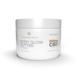Sky Wellness 200MG Broad Spectrum CBD Body Glow Butter 100ML - Lavdender