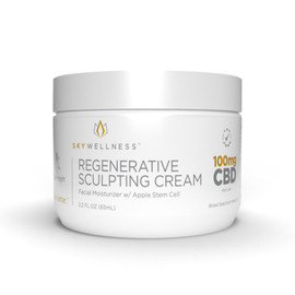 Sky Wellness 100MG Broad Spectrum CBD Regenerative Sculpting Cream 65ML  - Apple Stem Cell