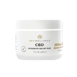Sky Wellness 250MG Broad Spectrum CBD Intensive Relief Rub 30ML - Menthol