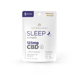 Sky Wellness 125MG Broad Spectrum CBD Sleep Softgels - 5 Count - Mixed