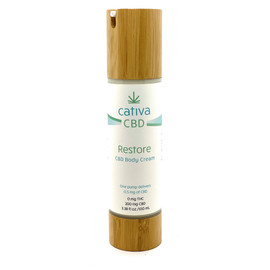 Cativa CBD 200MG Broad Spectrum Restore CBD Body Cream 100ML - Restore