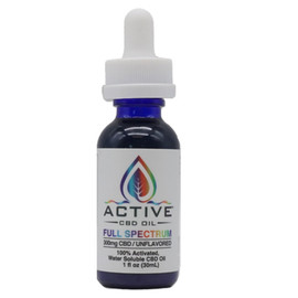 Active CBD Oil 300MG Full Spectrum CBD Oil Tincture Water Soluble 30ML - Unflavored