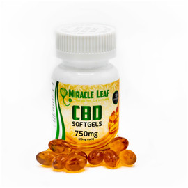 Miracle Leaf 750MG Full Spectrum CBD Softgel Capsules 30 Count - Unflavored