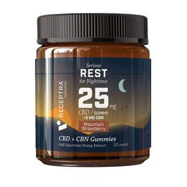 Receptra Naturals 750MG Full Spectrum CBD + CBN Gummies 30 Count
