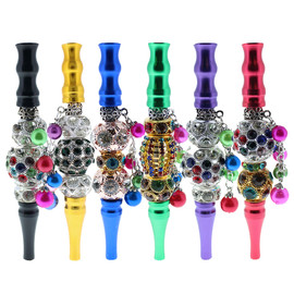 Preppy La Peui Flute Fashion Blunt Holder And Hookah Mouth Tip - Display of 10 - Assorted Colors