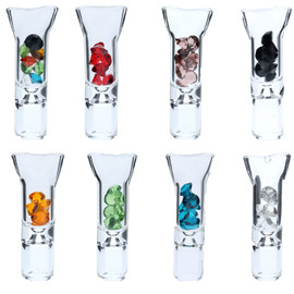Preppy La Peui Gio Glass Mouth Tip - Display of 5 - Assorted