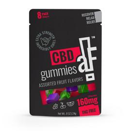 CBDaF! 160MG Isolate CBD Gummies 8 Count - Assorted Fruit