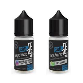 CBDaF! 300MG Full Spectrum CBD Vape Juice 30ML - Blue Raspberry Cotton Candy, Spearmint