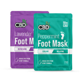 CBDfx 50mg Foot Mask - Display of 10
