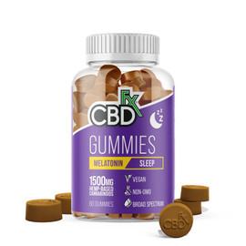 CBDfx 1500mg Broad Spectrum CBD Gummies Melatonin Sleep - Pack of 60
