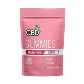 CBDfx 200mg Broad Spectrum CBD Gummies Woman Multivitamin - Display of 10 / 8ct Pouches