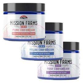 Mission Farms 600MG Full Spectrum CBD Goat Milk Cream 2 fl oz - Pure, Rest, Relax