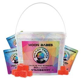 Galaxy Treats 50mg Moon Babies Delta 8 THC Gummies - Moon Bucket of 100 Packs,Mars Mango,Starberry