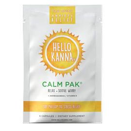 Hello Kanna 600MG Kanna Pak Supplement Capsules - Display of 12 - Calm Pak