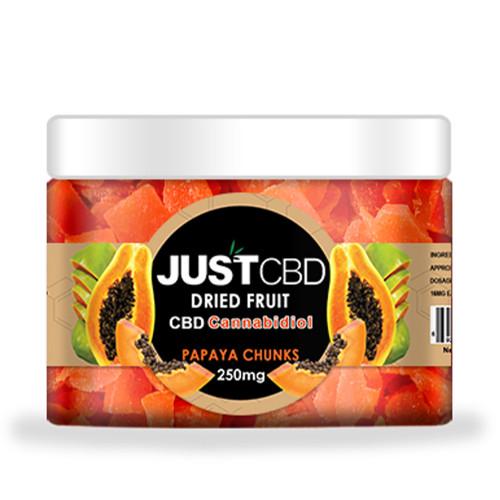 JustCBD 250mg CBD Infused Dried Papaya Chunks