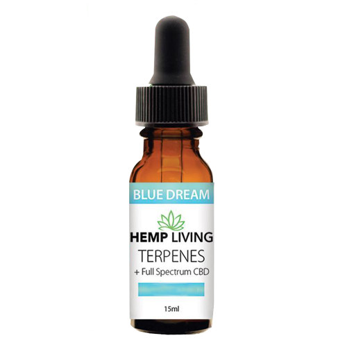Hemp Living 500mg Full Spectrum CBD Blue Dream Terpenes Oil 15ML