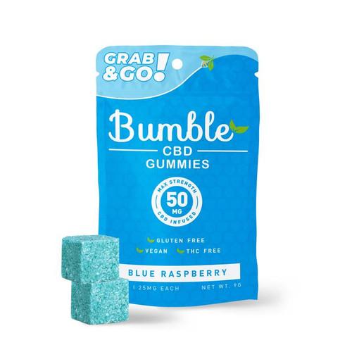 Bumble CBD 50mg CBD Infused Gummies  - Blue Raspberry