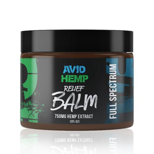 Avid Hemp 750MG Full Spectrum CBD Relief Balm 2 oz