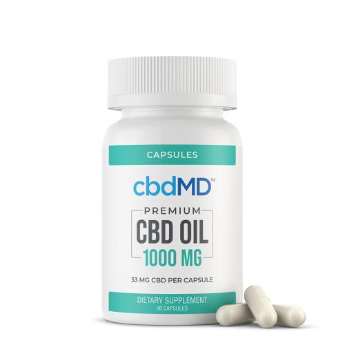 cbdMD 1000MG CBD Oil Broad Spectrum Capsules - 30ct