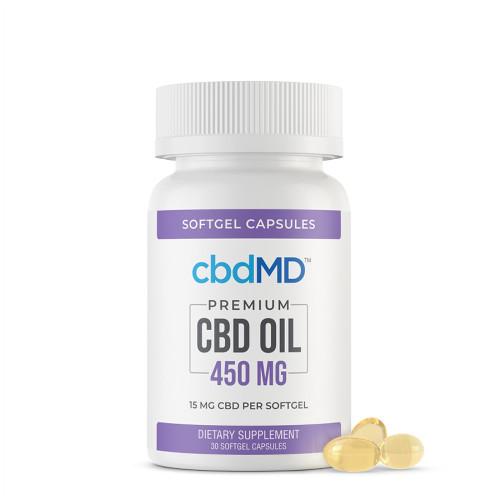 cbdMD 450MG CBD Oil Broad Spectrum Softgel Capsule - 30ct,60ct