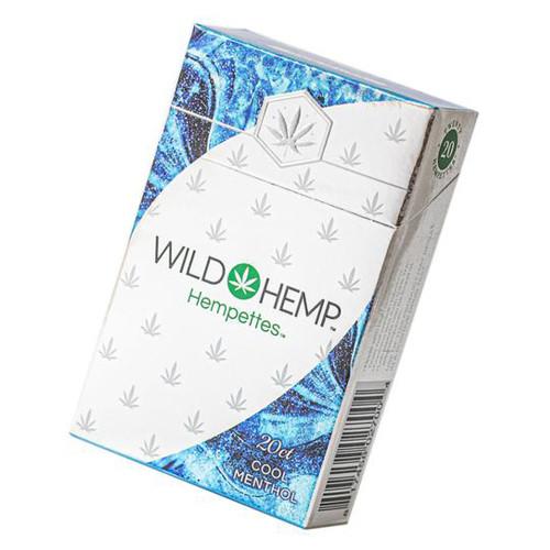 Wild Hemp 75MG Hempettes Pre-Rolled CBD Cigarette - Display of 10 Packs - Cool Menthol