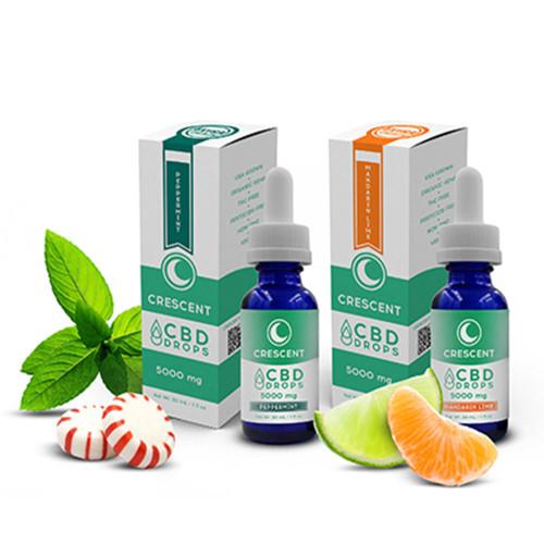 Crescent Canna 5000MG Isolate CBD Drops Tincture 30ML - Mandarin Lime , Peppermint