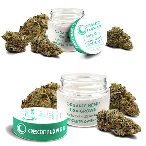 Crescent Canna 3.5 Gram Hemp Flower Jar - Lifter, Suzy Q