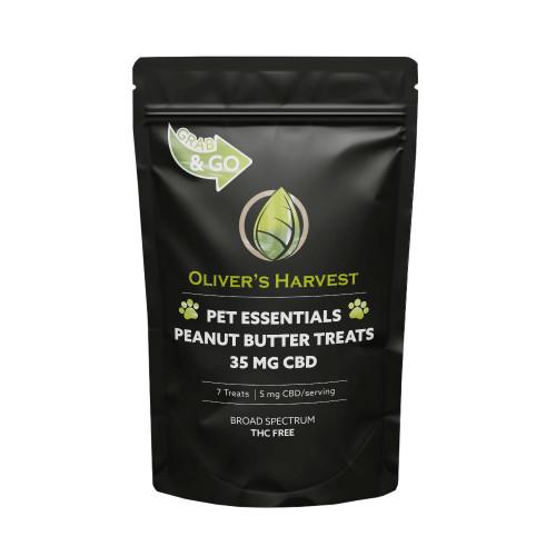 Olivers Harvest 35MG Broad Spectrum CBD Pets Treats 7 Count - Peanut Butter