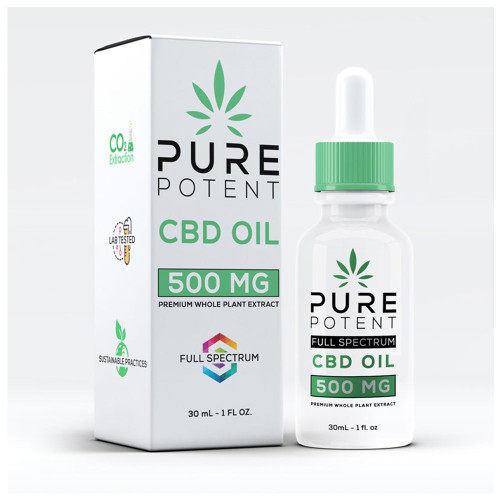 Pure Potent 500MG Full Spectrum CBD Oil 30ML - Original
