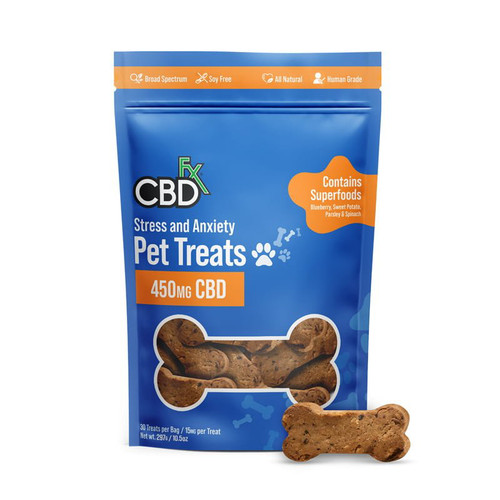 CBDfx CBD 450mg Pet Treats / 30ct Bag (MSRP $29.99)  - Stress & Anxiety