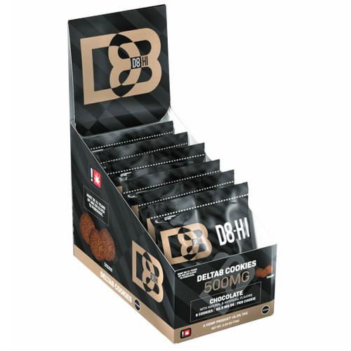 D8-HI 500mg Hemp Delta-8 Infused Cookies - Display of 6